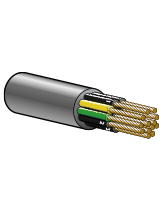 FLEXTEL4G0.75 7.5A 6.2m Flexible Control Cable – 3 Cores + Earth