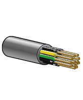 FLEXTEL5G0.5 3A 6mm Flexible Control Cable – 4 Cores + Earth