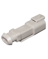 DT04-2P-E008 Deutsch DT Series 2 Pin Receptacle with Heatshrink End