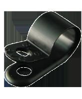 "NP9.5SB 9.5mm Nylon ""P"" Clip – 4.6mm Mounting hole"