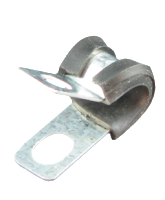 """PS00 6mm Rubber insulated """"P"""" Clip 6mm mounting hole"""