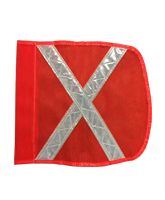 QVFLAGXHD Heavy Duty Safety Flag with reflective 'X'