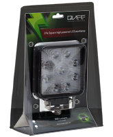 QVWL27WS 27w High Powered Square LED Worklamp – Flood Beam