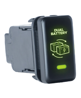 QVSWHL6 Large Off/Momentary On Toyota Battery Link Switch with Green Illumination