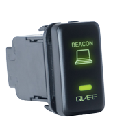 QVSWHL1 Large Toyota Beacon Switch with Green Illumination On-Off