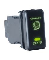 QVSWHL2 Large Toyota Worklight Switch with Green Illumination On-Off