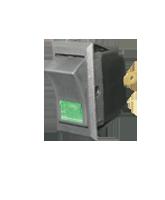SR23103G SPST Off/On Rocker Switch – Green