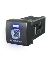 QVSWPL2BBL Square Toyota Worklight Switch with Blue Illumination On-Off
