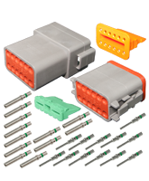 DT12 Deutsch 12 Pin DT Series Complete Connector Kit