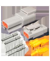 DT2M Deutsch 2 Pin Mini DTM Series Complete Connector Kit