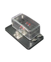 QVFBM4LED 4 Way Mini Blade Fuse Block with Single Power In