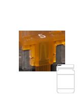 QVLPM5/25 5 Amp Low Profile Mini Blade Fuse
