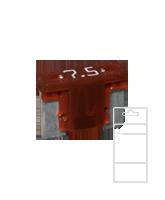 QVLPM7BL 7.5 Amp Low Profile Mini Blade Fuse