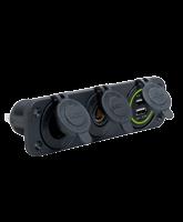 QVPSFM3AMU Triple Flush Mount Accessory / Merit / Twin USB