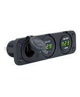 QVPSFM3AVP Triple Flush Mount Accessory / Volt Meter / Amp Gauge