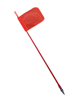 SFQ1200 Safety Flag 1.2m with Quick Release Base
