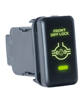 QVSWHL8 Large Toyota Front Diff Lock Switch with Green Illumination On-Off