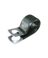 """CMPC14/10 14.2mm PVC Coated Zinc """"P"""" Clip 10mm mounting hole"""