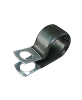 """CMPC18/10 18mm PVC Coated Zinc """"P"""" Clip 10mm mounting hole"""