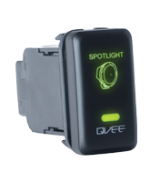 QVSWHL3 Large Toyota Spot Light Switch with Green Illumination On-Off