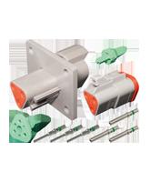 DT3FL-KIT Deutsch 3 Pin Flange Mount DT Series Complete Connector Kit