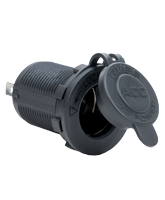 QVPSACC Panel Mount Accessory Socket with Cover
