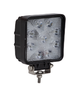 QVWL27WS 27w High Powered Square LED Worklamp – Flood Beam