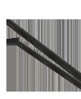 ES0620 20mm Expanded Diameter Black Flexible Braided Sleeving