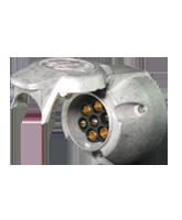 QVTS7MT 7 Pin Metal Truck Trailer Socket