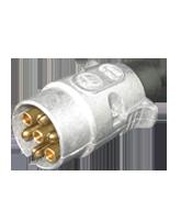 QVTP7MT 7 Pin Metal Truck Trailer Plug